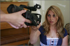 Actress Alexandra Dreyfus plays the role of  Sarah, a recently introduced character in the popular 'LonelyGirl15' series on the Web.