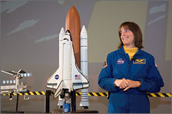 Teacher-turned-astronaut Barbara Morgan is making her shuttle flight at 55.