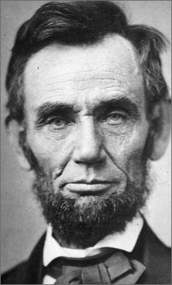Abraham Lincoln is shown in this Nov. 8, 1863 photo. Laser scans of two life masks of the 16th president's face reveal the left side of his face was much smaller than the right.