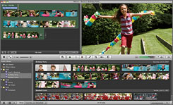 The radically redesigned iMovie can edit footage from new high-def camcorders.