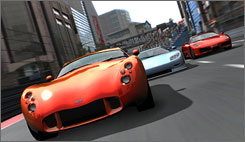 Cadillac ads are featured prominently in Project Gotham Racing 3.
