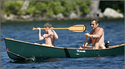 This Reuters photo of France's President Nicolas Sarkozy vacationing in New Hampshire was digitally altered for a story in Paris Match magazine.