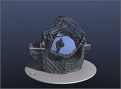 The mirror of the European Extremely Large Telescope (ELT) will be 42 meters wide--four times bigger than any in existence. It is slated to go online in 2017.
