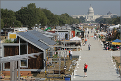 Twenty college teams strive to be the best in the annual Solar Decathlon.