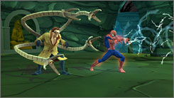 You'll have to defeat Doc Ock before he'll fight alongside you.