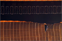 The torn solar arrary wing on the International Space Station is to be repaired Saturday.