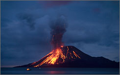 Actually, this is Pulau Ana Krakatau off Indonesia, but it's more dramatic :P