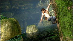 Despite an occasional shimmering effect, the graphics in 'Uncharted' are outstanding.