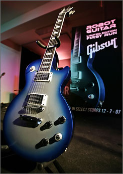 The 'Gibson robot Les Paul' guitar is the world's first guitar to feature a robotic auto-tune system that can store up to six different tunings. Gibson will start selling it on December 7.
