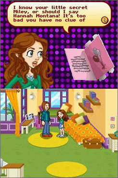 'Hannah Montana' lets you play through three interactive mysteries based on the TV show.