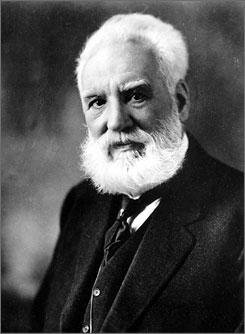 Alexander Graham Bell, inventor of the telephone.  A new book claims to have definitive evidence that Bell stole ideas for the telephone from a rival, Elisha Gray.