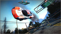 Both the graphics and sound are tremendous in 'Burnout Paradise.'