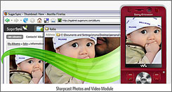 With SugarSync Mobile, photos you take with your phone are automatically synced to your PC.