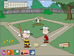 In 'Peanuts: It's the Big Game Charlie Brown!.', Linus teaches Charlie Brown how to bat during this minigame.