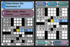 Crosswords DS offers 200 'Easy' level puzzles for beginners and children.