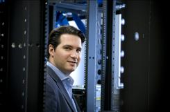 CEO Richard Maggiotto in the San Francisco server room of Zinio, which has digital versions of over 750 magazines, including Elle, Redbook and Playboy. Consumers can get them on their PC, iPhone or iPod Touch.