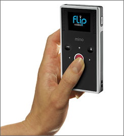 The Flip Mino can store up to an hour of video.