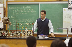 Mark Wahlberg in a scene from The Happening.