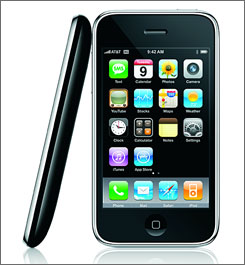 Another view of the iPhone 3G.