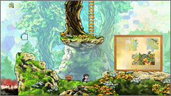 """Braid is a two-dimensional side-scrolling game in a colorful, ornate world from acclaimed developer Jonathan Blow. He has described it as """"in the mold of Super Mario Bros., but that is more about problem-solving and less about making tricky jumps."""