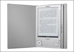 Sony will provide a software update to the Reader so the device can display books encoded in a format being adopted by several large publishers.