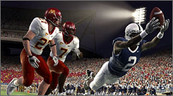 A scene from 'NCAA Football '09.' This year's iteration feels like a polished version of last year's release.