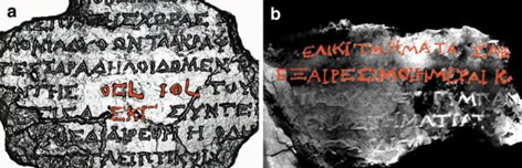 Previously identified inscriptions reveal remnants of an instruction manual describing the Antikythera Mechanism's cycles, dials and functions, as seen in two examples from the Mechanism's back door.