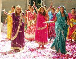 A scene from The Cheetah Girls One World movie, starring (left to right) Adrienne Bailon, Kiely Williams and Sabrina Bryan. The Cheetah Girls: Passport to Stardom game's debut coincides with the release of the movie on the Disney channel.