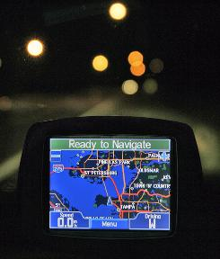 Garmin GPS units, similar to this one shown in Tampa, Fla., can be used in court cases to pinpoint the places defendants have been and  help jurors make judgements from the technological evidence. 