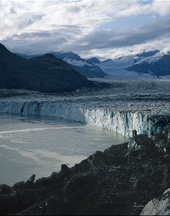 "Columbia Glacier, Alaska. Researchers in Science say that a 2.5-foot sea level rise is  ""most likely"" by 2100."