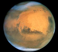 A 2000 study concluded a rock from Mars (seen here), found on Earth, remained cool enough during its violent ejection from the red planet and its fiery trip through our atmosphere 16 million years later to sustain life -- were there any aboard.