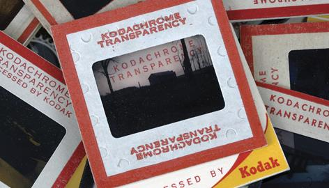Old Kodachrome slides are seen in Clarence, N.Y.