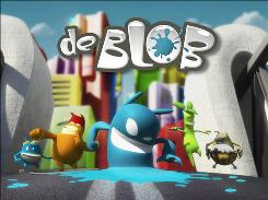 "De Blob and the Color Revolutionaries fight to bring color back to Chroma City in THQ's new video game ""de Blob"" for the Nintendo Wii."