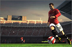 Manchester United's Wayne Rooney in 'FIFA Soccer 2009.'