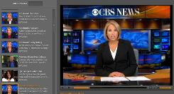 The new Adobe Media Player shows CBS News with Katie Couric.