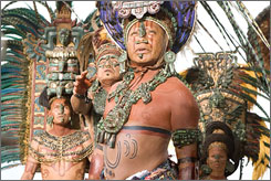 A scene from the film 'Apocalypto,' based on the decline of the Mayan civilization.