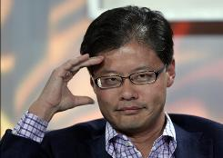 Yahoo CEO Jerry Yang listens to a question at the Web 2.0 Summit in San Francisco, Wednesday, Nov. 5, 2008. Yang has announced his plans to reliquish the CEO post.