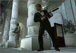 The virtual version of James Bond in Activision's 'Quantum of Solace.'