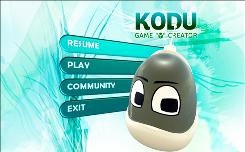 Screen shots from the upcoming Microsoft Xbox Live game, Kodu. People will be able to use it to create their own video games for the Xbox 360.
