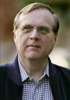 In this July 13, 2007 file photo, Vulcan chairman and Microsoft co-founder Paul Allen arrives at the annual Allen and Co.'s media conference  in Sun Valley, Idaho. Microsoft co-founder Paul Allen, who has seen his massive investment in cable operator Charter Communications vanish, at least on paper. He holds a 51 percent stake in Charter, now the nation's fourth-largest cable operator, with 5.5 million customers in 27 states. It's his biggest investment since leaving Microsoft in 1983.