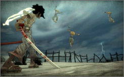 A scene from Surge's 'Afro Samurai' for the PlayStation 3 and Xbox 360.
