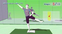 A screen grab of the game Wii Fit by Nintendo, the top-selling game in January, according to the NPD Group.