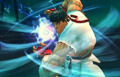 Ryu powers up his fireball in 'Street Fighter IV' for the PlayStation 3 and Xbox 360.