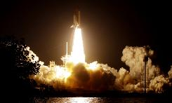 The space shuttle Discovery and a seven member crew liftoff at the Kennedy Space Center in Cape Canaveral on Sunday, March 15, 2009.