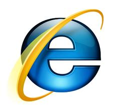 The logo for Microsoft's Internet Explorer browser.
