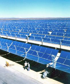 The world's largest solar power facility, located near Kramer Junction, Calif., consists of five Solar Electric Generating Stations and covers more than 1,000 acres.
