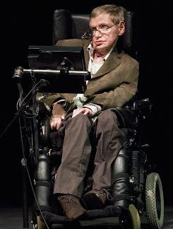 The family of famed physicist Stephen Hawking, who suffers from Lou Gehrig's Disease, say they expect him to fully recover from a chest infection that landed him in the hospital. Here, he is seen in March 2007 during a talk in Berkeley, Calif.