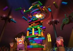 A scene from 'Boom Blox: Bash Party' for the Nintendo Wii.
