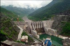 In this file photo taken Aug. 28, 2001, the Dachaoshan dam is shown in Dachaoshan, Yunnan province, China. A dam building spree in China and parts of Southeast Asia poses the greatest threat to the future of the already beleaguered Mekong which is considered one of the world's great rivers and a key source of water for the region, the United Nations said in a report.