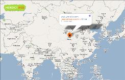 In this screen shot taken on Aug. 4, 2009, Herdict.org, a Harvard-based Web site that tracks online censorship, shows that YouTube had been reported inaccessible in China, based on reports from the site's users.